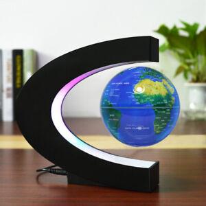 3 Inch Magnetic Levitation Globe C Shape Floating Globe with Colorful Light Base