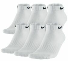$45 Nike Men's 6-Pairs Pack White Low-Cut Athletic Ankle Socks Shoe 8-12