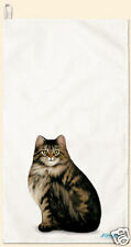 Fiddlers Elbow Cotton Kitchen Towel  Long Hair Tabby Cat Made In USA New