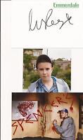 EMMERDALE * LUKE ROSHELL 'SEAN SIGNED 6X4 CRESTED WHITE CARD+ 2 FREE PHOTOS+ COA