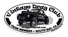 "Drag Racing NHRA Sticker Decal Gasser 5"" oval"