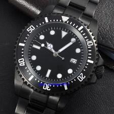 Parnis 42mm 2813 Auaomatic Movement Men's Date PVD Watch Black Luminous Dial