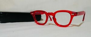 VTG 80's Rare Shady Character's James Dean eyeglass / sunglass Ruby W/O lenses