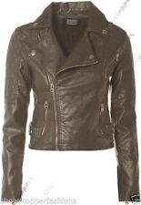 Cappotti e giacche da donna grigi pelle , Taglia 42