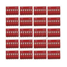 Plastic DIP-6P DIL Toggle Switch 12 Pins for All PCB Project 24V Pack of 20