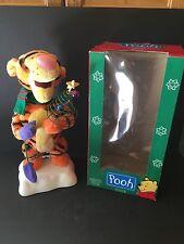 """VTG 1996 Telco XMAS 16"""" Tigger Animated Disney Motionette Winnie The Pooh w/Box"""