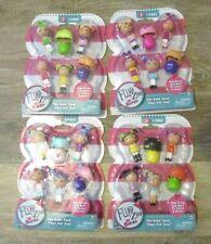 Flip Zee Girls Mini Dolls Series 1 Lot of 4 = 16 dolls + 8 bonnets + 8 bundles