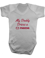 My Daddy Drives a Mazda -Baby Vest-Baby Romper-Baby Bodysuit-100% Cotton