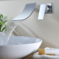 Wall Mounted Bathroom Widen Spout Basin Mixer Tap Single Handle Bathtub Faucets