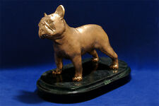 Hot cast bronze French Bulldog (Frenchie) sculpture. Great gift for dog lovers.