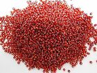 50g 2mm 11/0 Glass Seed Beads - RED SILVER LINED ( Post Free Australia )