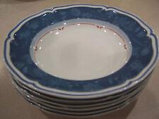 6 Villeroy & Boch Cottage blue  Rimmed soup bowls germany