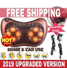 Ready Stock 2019 UPGRADED Shiatsu Home & Car MASSAGE PILLOW WITH 8 ROLLERS
