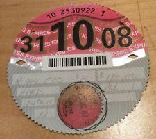 October 2008 tax disc - FREE UK POST