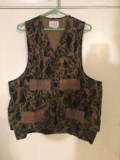 AMERICAN FIELD SPORTSWEAR L Vintage Distressed Camo Vest