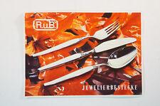 Katalog R.u.B. Juwelierbestecke 1960er Jahre Schmuck Silber Prospekte B5076