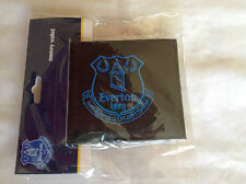 Official Everton Wallet - Black with Blue Embroidered Badge - Ideal Football Gif
