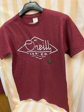 O'Neill SURF CO. Color Burgundy T-Shirt New NWT Men's Small , Free Shipping!