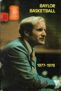 "1977-78 BAYLOR BEARS BASKETBALL media guide, Vinnie ""The Microwave"" Johnson, EX"
