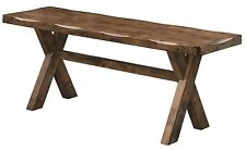 Alston Rustic Knotty Nutmeg Finish Trestle Style Bench by Coaster 106383