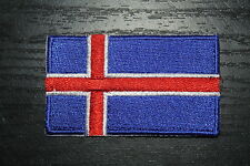 Iceland Country Flag Embroidered Patch Badge