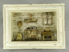 Shadow Box Diorama Country Kitchen Folk Art  Wood Wall Hanging