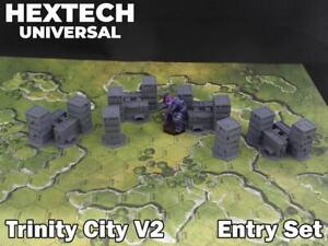 HEXTECH - Trinity City Entry Set - Epic 40k - Battletech - Scenery - 6mm - AT