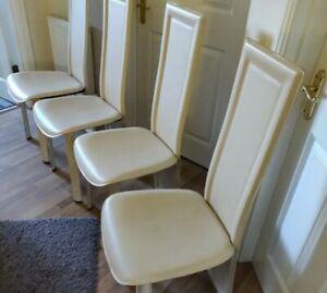 Six Cream Dinning Chairs