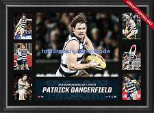 PATRICK DANGERFIELD GEELONG CATS FRAMED 2016 AFL BROWNLOW MEDALLIST PRINT