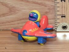 "Vintage Muppets 1986 Sesame Street ""Grover"" Metal Airplane Toy Only *Read*"
