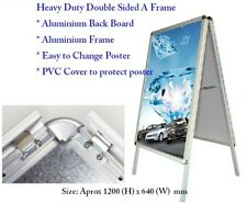 Heavy Duty Clip A1 Double Sided A Frame Poster Stand Display Snap Sign Advertise