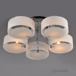 Acrylic Chandelier Modern Simple Ceiling Light Lamp Pendant Flush Mount Chrome