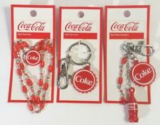 COCA COLA Collectors Necklace Coke Charm Key chain Danglers Fashion Jewelry Rpet