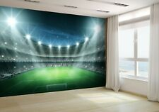 Football Stadium Pitch Wallpaper Mural Photo soccer 32457955 premium paper