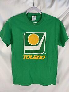 TOLEDO GOALDIGGERS T SHIRT Retro 70s 80s Minor League Hockey IHL Size S NWT