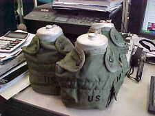 POLISH MILITARY CANTEEN (3) WITH US  COVER   OLD  WATER BOTTLE POLAND MILITARY