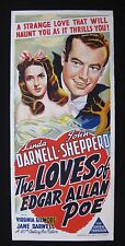 LOVES OF EDGAR ALLAN POE 1942 Orig Australian daybill movie poster Linda Darnell