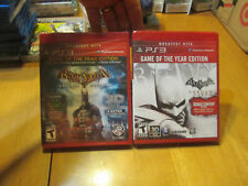 LOT Batman Arkham City & Asylum Game of the Year Edition PS3 Greatest Hits GOTY