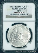 2006 P BEN FRANKLIN FOUNDING FATHER Silver Dollar Coin $1 NGC MS 70 MS70 PERFECT