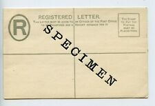 Leeward  Islands postal stationery registered envelope letter SPECIMEN (S872)