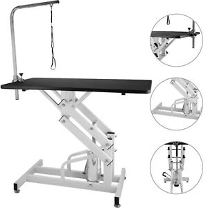 Z-lift Hydraulic Dog Cat Pet Grooming Table Heavy Duty w/Noose Professional