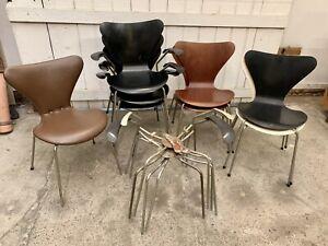 Arne Jacobsen Serie 7 Stühle Konvolut | Fritz Hansen Teak Armlehnen 3107 3207