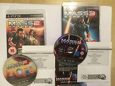 2 x PAL COMPLETE PLAYSTATION 3 PS3 GAMES MASS EFFECT 2 II + MASS EFFECT 3 III