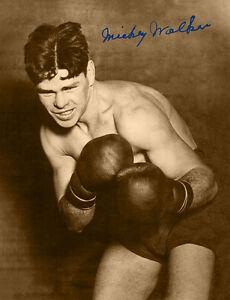 MICKEY WALKER 1925 Boxing Champion WW & MW 8x10 Photograph Autograph RP