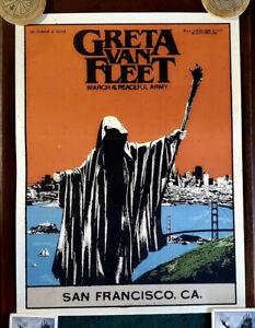 GRETA VAN FLEET  MARCH OF THE PEACEFUL ARMY TOUR POSTER SAN FRANCISCO