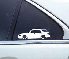 2x Lowered car outline stickers - for Subaru Impreza WRX STI wagon GG (BUG EYE)