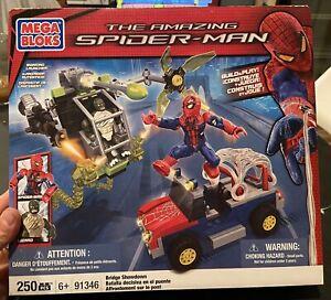 Mega Bloks Amazing Spider-Man #91346 Bridge Showdown 250 Pcs 2 Minifig's BNIB