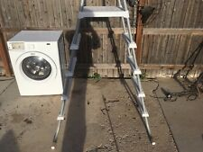 """Local Pickup 76"""" Aluminum Silver & White Above Ground 5 Step Pool Ladder"""