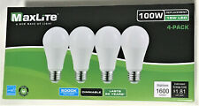 MAXLITE 4 Light Bulbs 15W LED Same As 100W Dimmable Daylight BUY 6 GET 2 FREE