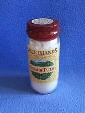 SPICE ISLANDS Cream of Tartar New 3 oz/86 gram Bottle with Best By Date 7-10-20